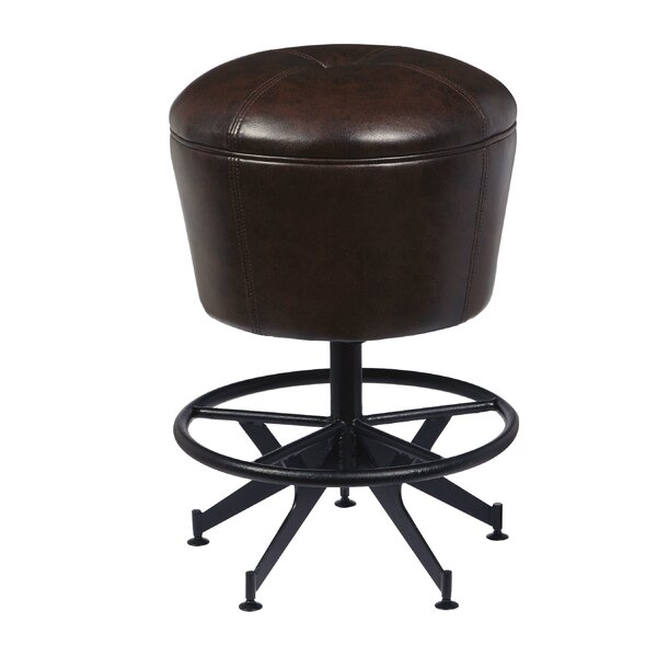 Demetrius 24 Swivel Bar Stool by 17 Stories