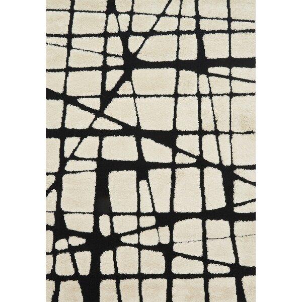 Bigham Cream/Black Area Rug by Wrought Studio