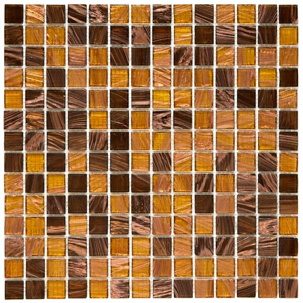 Fused 0.75 x 0.75 Glass Mosaic Tile in Amber by EliteTile