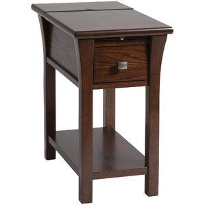 Amboyer Chairside Table in Cherry by Darby Home Co