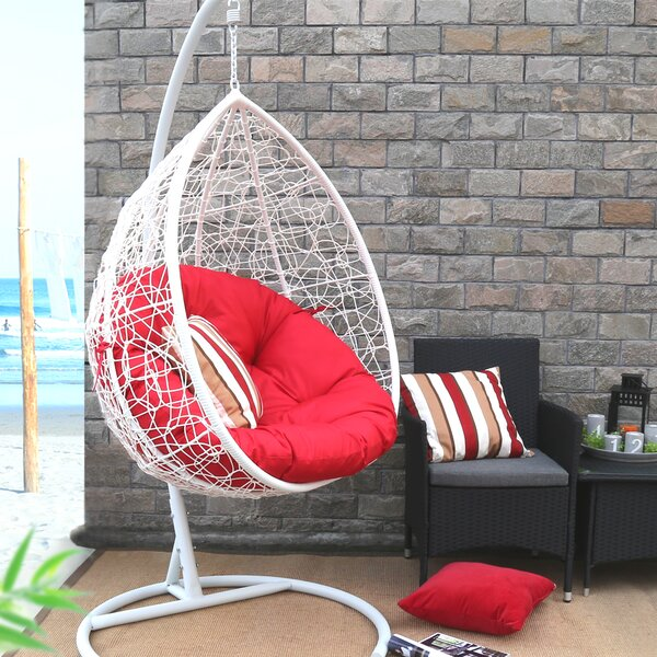 Oval Egg Hanging Patio Swing Chair by Baner Garden