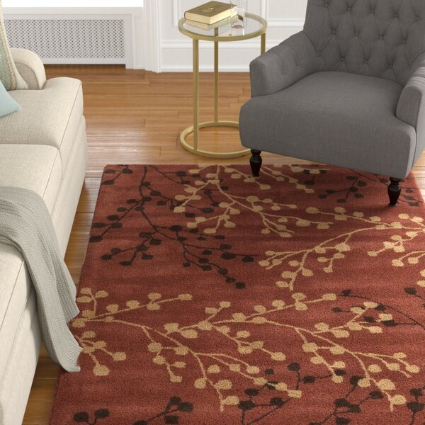 Dedrick Hand-Tufted Wool Plum/Merlot Area Rug by Darby Home Co