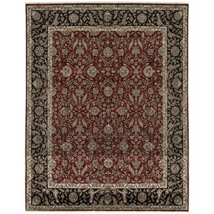 Find a One-of-a-Kind Marquis Handwoven 12'2 x 15'4 Wool Red/Black Area Rug ByBokara Rug Co., Inc.