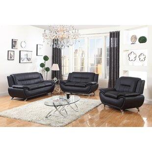 Collegiate 3 Piece Living Room Set by Orren Ellis
