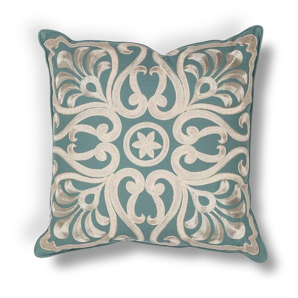 Shady Dale Damask Indoor/Outdoor Cotton Throw Pillow by Darby Home Co