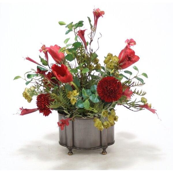 Mixed centerpiece in Planter by Distinctive Designs