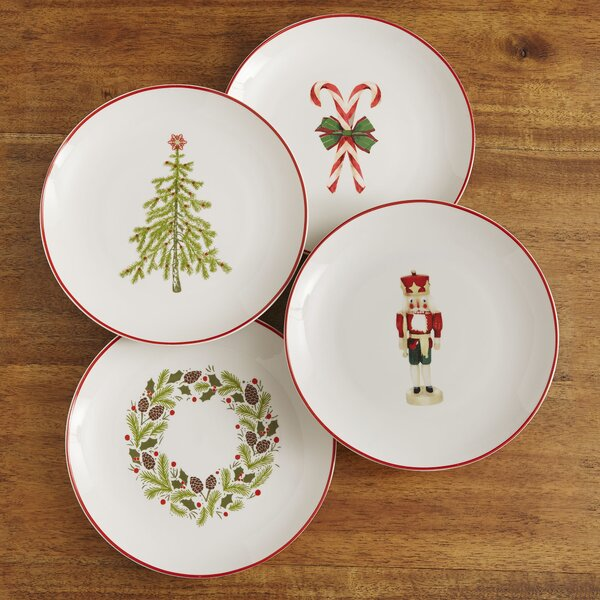 Christmas Plates (Set of 4) by Birch Lane™