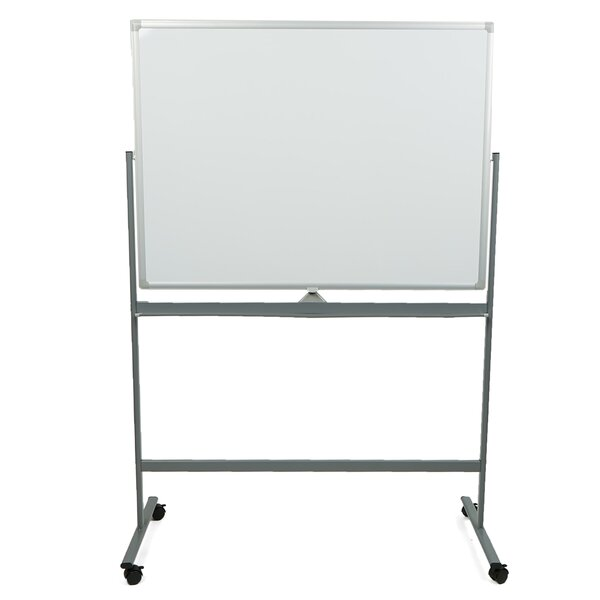 Portable Dry Erase Double Sided Easel Magnetic Free-Standing Reversible Whiteboard, 49.25 x 73 by Mind Reader