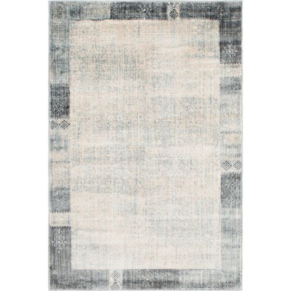 Courtyard Gray Area Rug by World Menagerie
