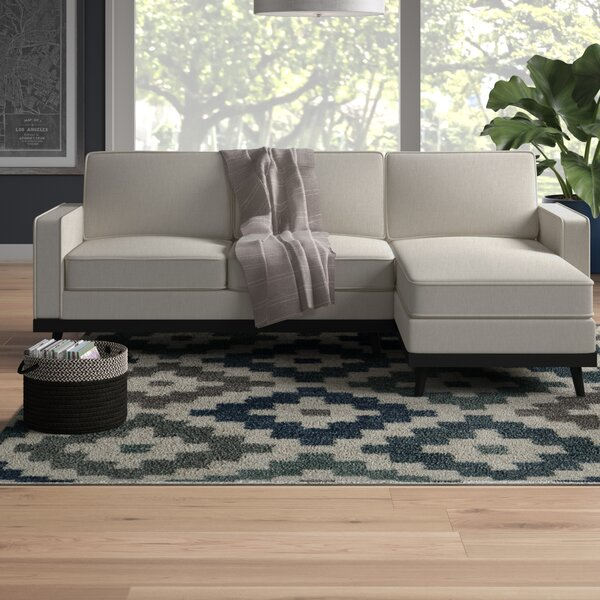 Melby Mid Century Right Hand Facing Sectional by Wrought Studio
