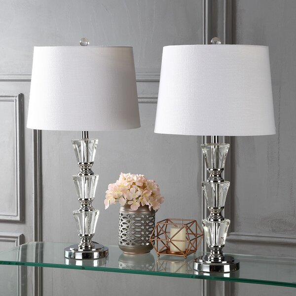 Pavonia 27 Table Lamp (Set of 2) by Rosdorf Park