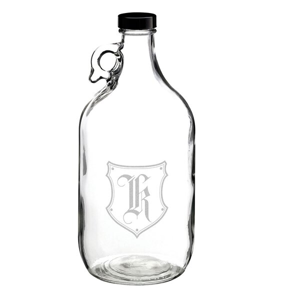 Monogram Glass Growler by Lillian Rose