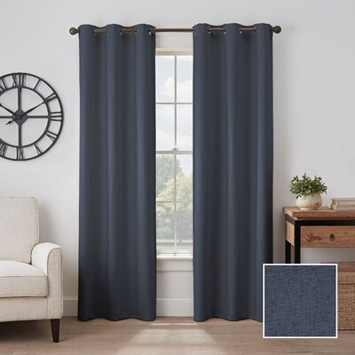 The Twillery Co â Bowen Absolute Zero Solid Max Blackout Thermal Grommet Single Curtain Panel The Twillery Co â Curtain Color Sage Size Per Panel 40 W X 84 L Dailymail