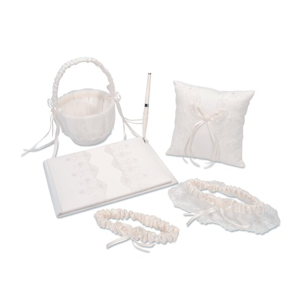 Elizabeth Street 5 Piece Guest Book Set by The Holiday Aisle