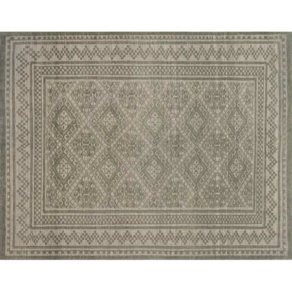 Pangle Hand-Knotted Sage Area Rug by Union Rustic