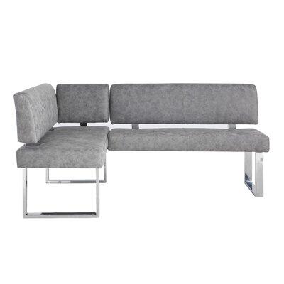 Admirable Cassian Faux Leather Corner Bench Orren Ellis Machost Co Dining Chair Design Ideas Machostcouk