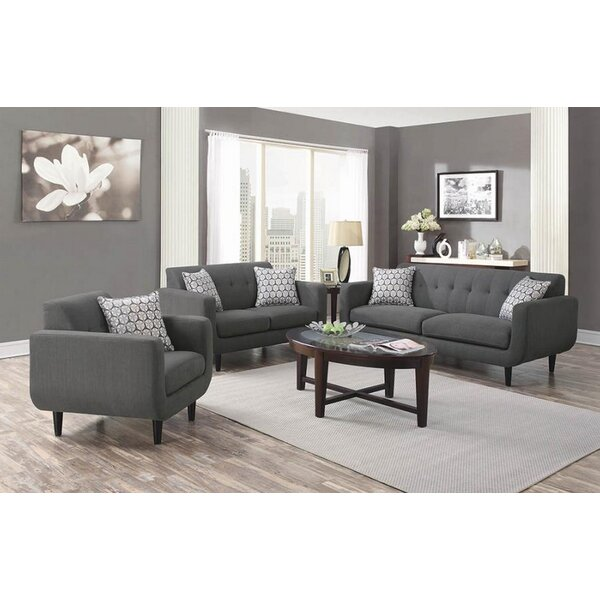 Avianna 3 Piece Living Room Set by Ivy Bronx