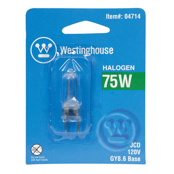 75W GY8.6 Dimmable Halogen Edison Capsule Light Bulb by Westinghouse Lighting