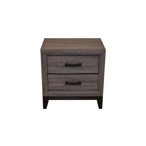 Webster 2 Drawer Nightstand by Union Rustic