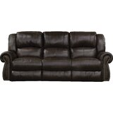 Messina Leather Reclining Sofa by Catnapper