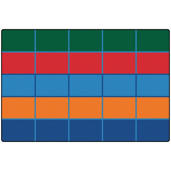 Elysee Color Blocks Area Rug by Zoomie Kids