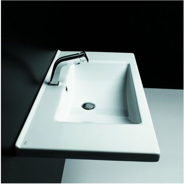 Kloc Ceramic 37 Wall Mount Bathroom Sink with Overflow by Althea by Nameeks
