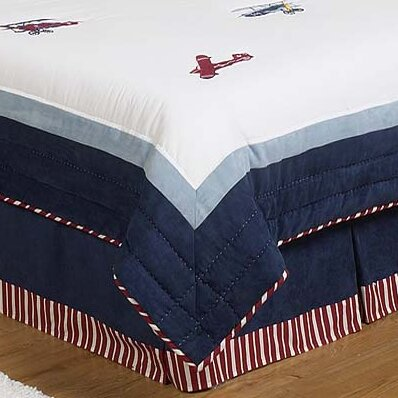 Vintage Aviator Queen Bed Skirt by Sweet Jojo Designs