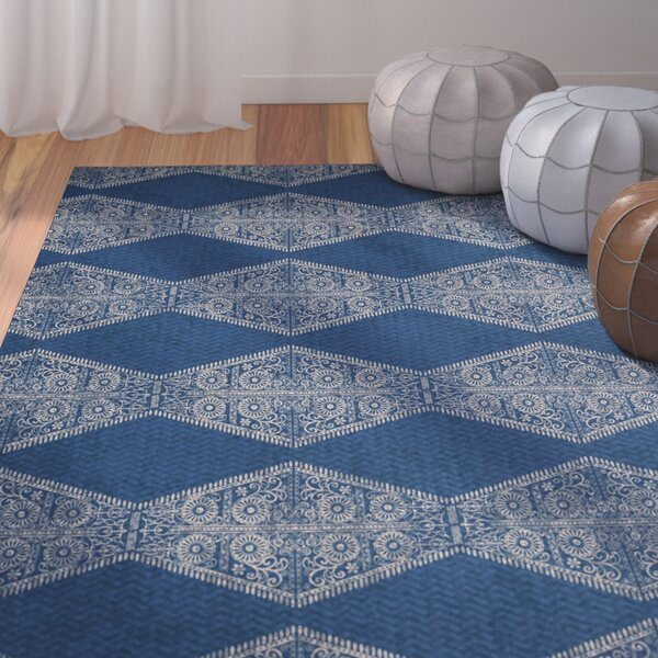 Soluri Blue Area Rug by Bungalow Rose