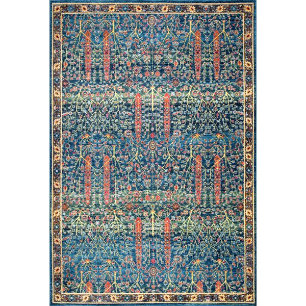 Fellows Blue Area Rug by Bungalow Rose