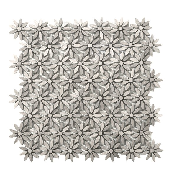 Metro Daisy Marble Mosaic Tile in Gray by Emser Tile