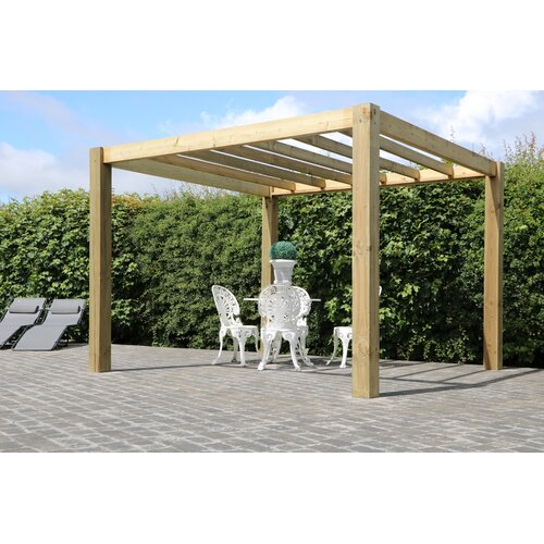 The Cube Garden Solid Wood Pergola Pheasant and Co. Size: