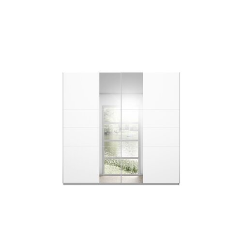 Maringa Sliding Door Wardrobe Rauch Finish: White, Size: 210cm H x 218cm W x 59cm D, Interior Option: Basic