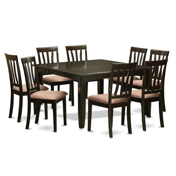 Pilning 9 Piece Extendable Solid Wood Dining Set by August Grove