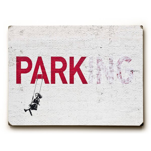 Parking Graphic Art on Wood by Wrought Studio