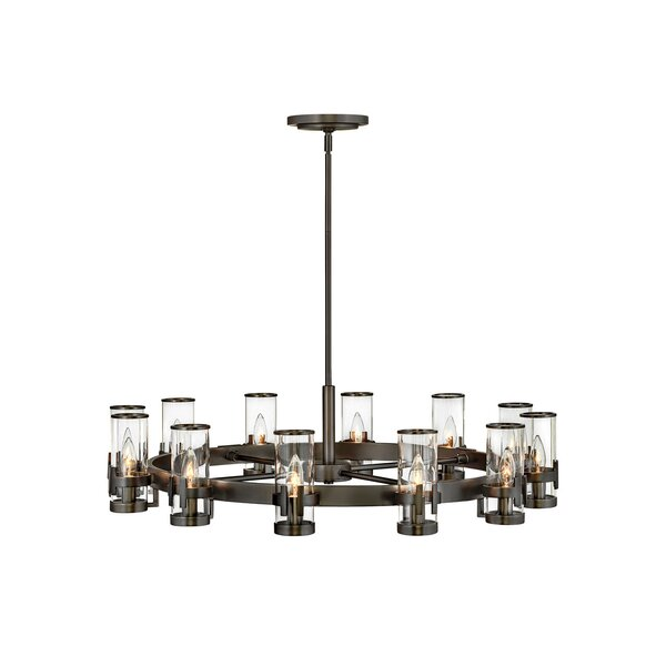 Reeve 12 - Light Unique Wagon Wheel Chandelier by Hinkley Hinkley
