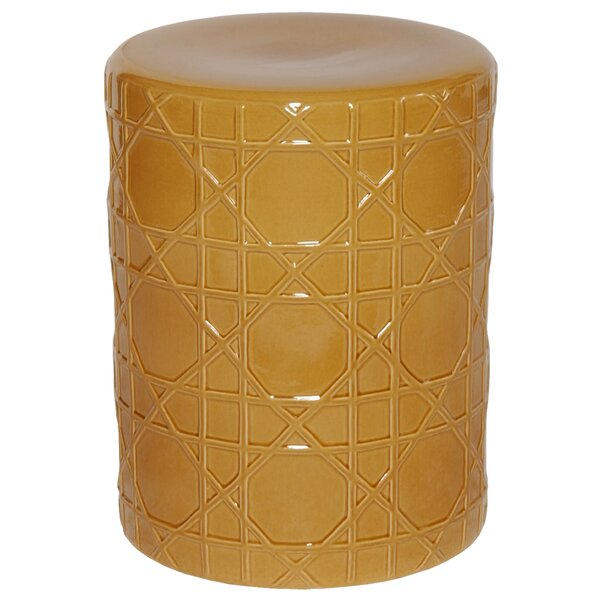 Cane Garden Stool by Emissary Home and Garden