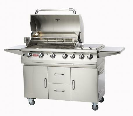 Burner Premium 4-Burner Propane Gas Grill with Smoker by Bull Outdoor Products