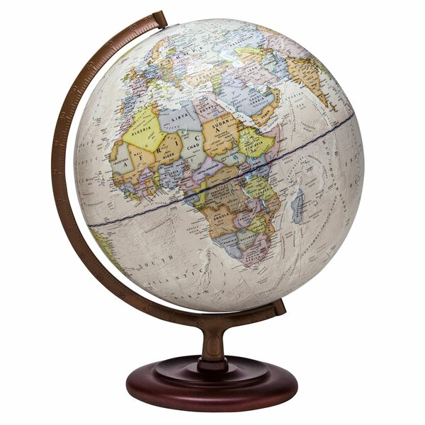 Antique Ocean Globe by Three Posts