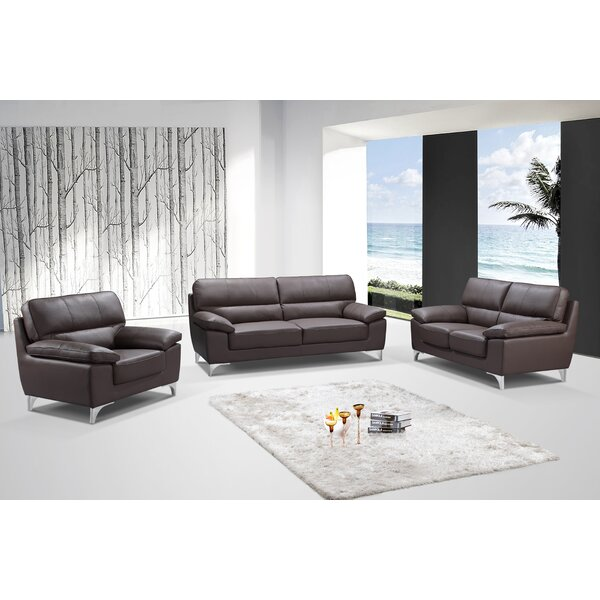 Charity 3-Piece Living Room Sofa Set by Orren Ellis