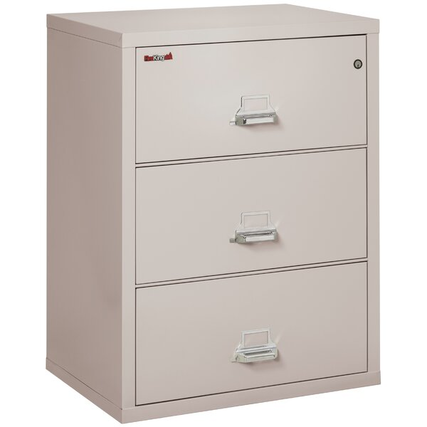 Fireproof 3-Drawer Vertical Filing Cabinet