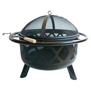 Outdoor Round Steel Wood Burning Fire Pit
