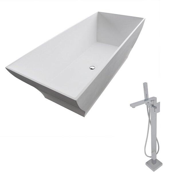 Crema 70.8 x 31.5 Freestanding Soaking Bathtub by ANZZI