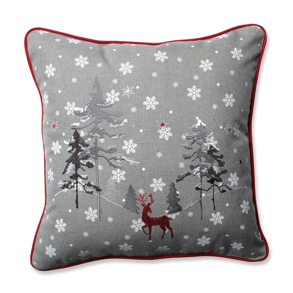 The Reindeer Throw Pillow by Pillow Perfect
