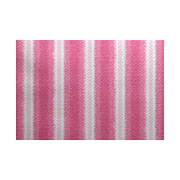 Navarro Pink/White Indoor/Outdoor Area Rug by Ebern Designs