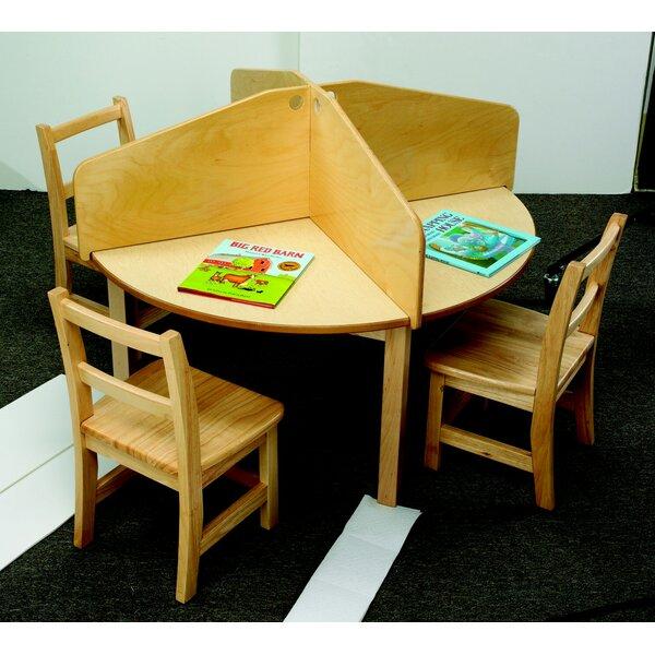 Childcraft Wood Study Carrel 4 Panel Desk Privacy 14 H X 44 W Reviews Wayfair
