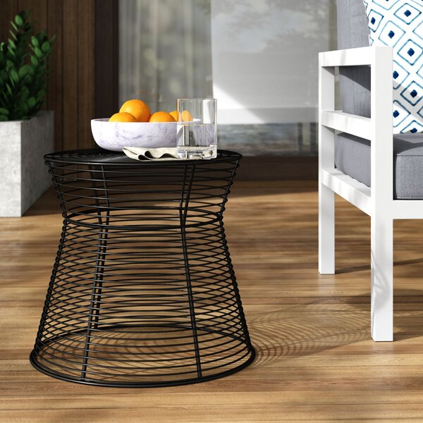 Derose Iron Side Table by Mercury Row