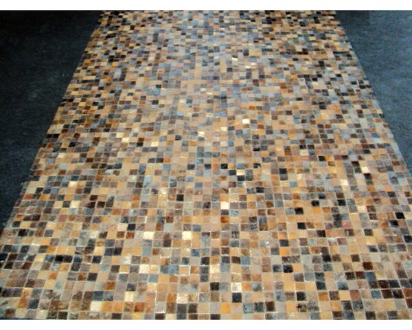 Patchwork Granite Brown Area Rug by Modern Rugs
