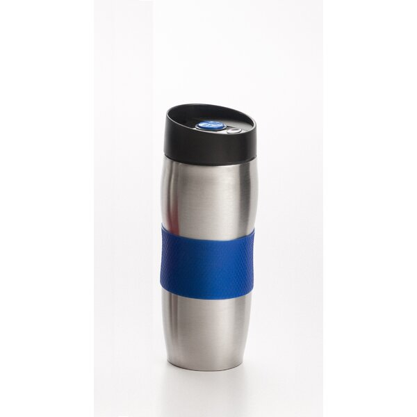 Eastridge 15 oz. Stainless Steel Twist on Push Button Coffee Travel Tumbler by Rebrilliant