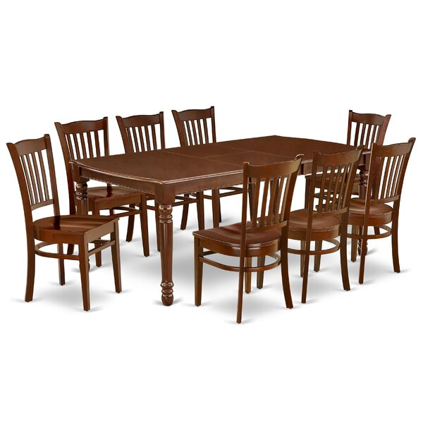 Christi 9 Piece Extendable Solid Wood Dining Set by Alcott Hill Alcott Hill