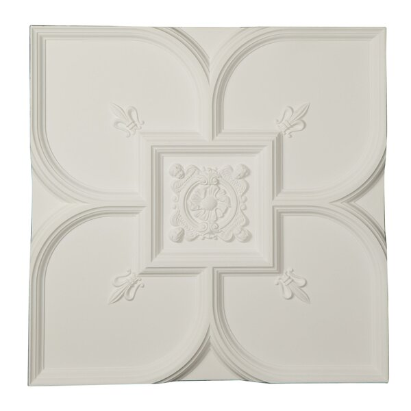 Fleur-de-lis 31.5 H x 31.5 W x 2.38 D Ceiling Tile by Ekena Millwork
